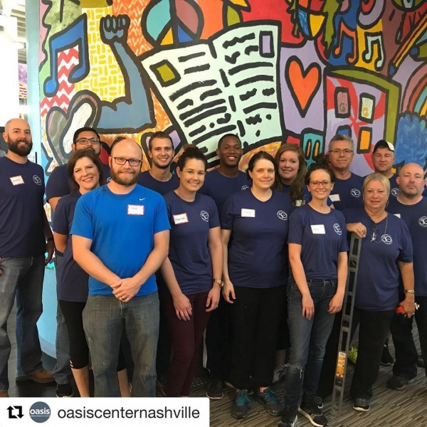 Changing the world, one volunteer at a time. Love to see @hcahealthcare involved in our community! ・・・ #Repost @oasiscenternashville ・・・ We ❤️ HCA! These incredible people built massive storage shelving and organized all our donations! The organization makes our hearts sing!! Thank you @hcahealthcare !!